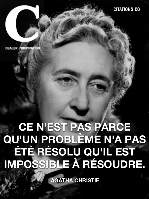 Citation de Agatha Christie
