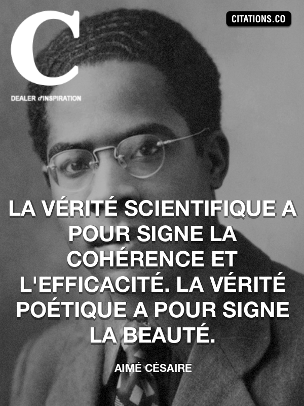 Citation de Aimé Césaire