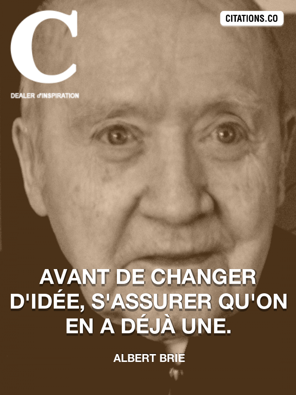 Citation de Albert Brie