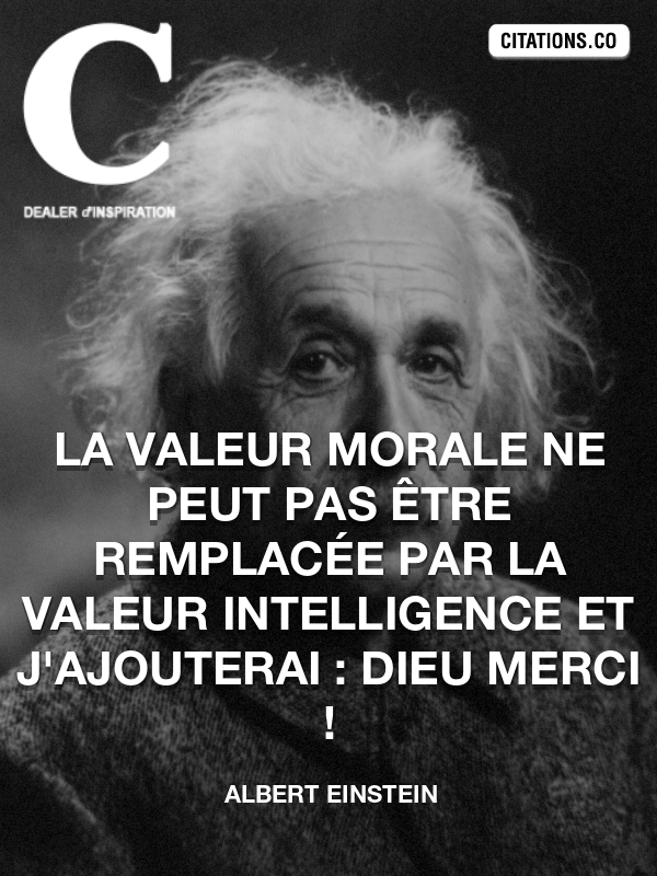 Citation de Albert Einstein