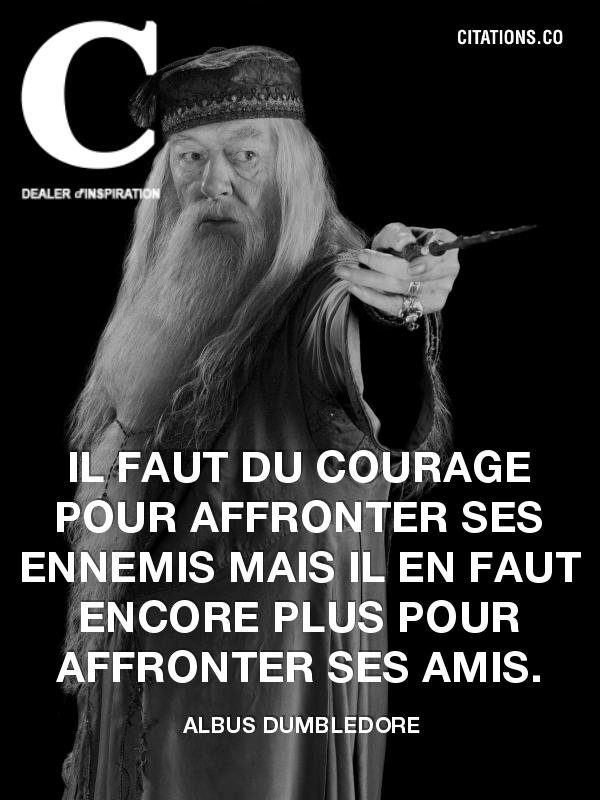 Citation de Albus Dumbledore