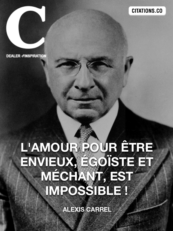Citation de Alexis Carrel