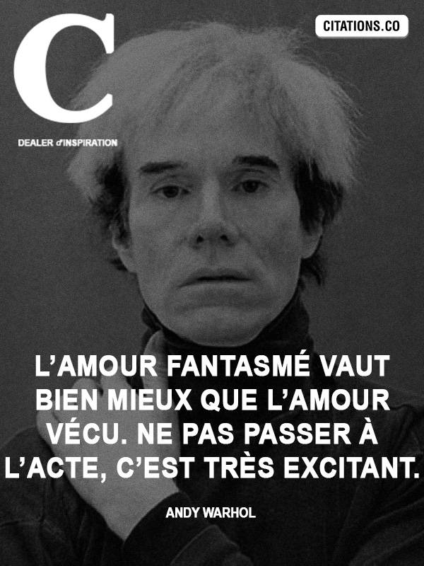Citation de Andy Warhol