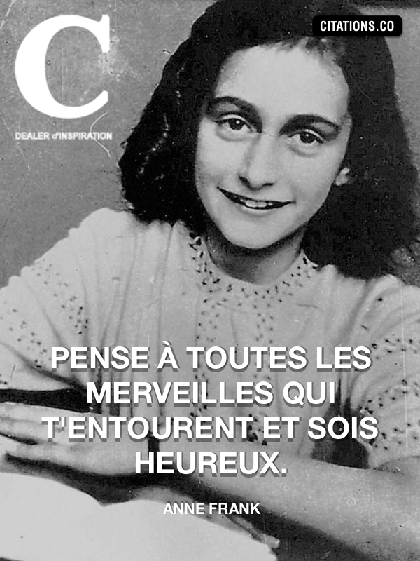 Citation de anne frank