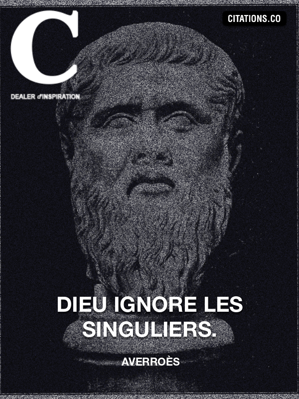 Citation de Averroès