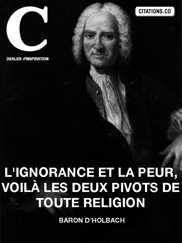 Citation de Baron d'Holbach