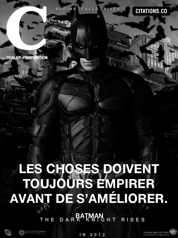 Citation de Batman