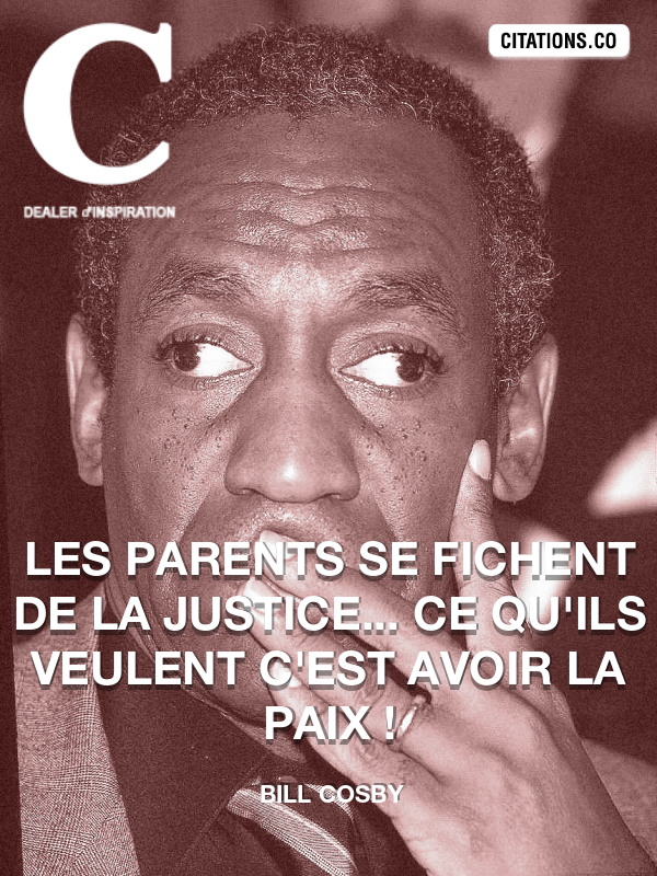 Citation de bill cosby