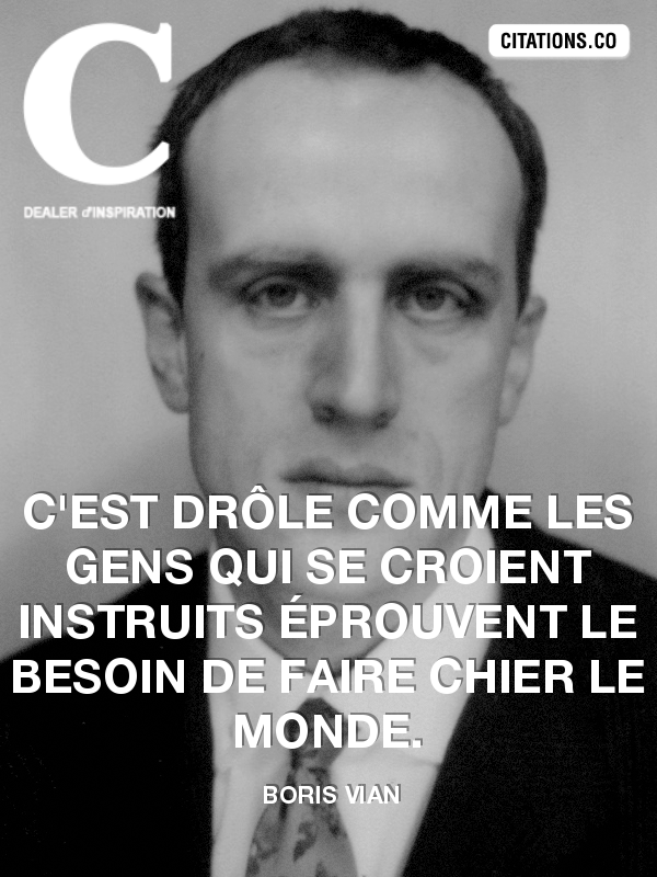 Citation de Boris Vian-798299