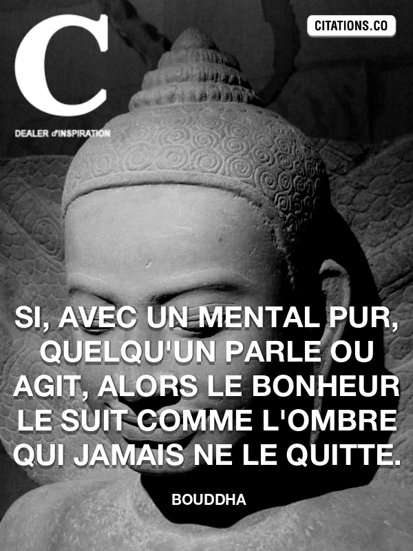 Citation de Bouddha