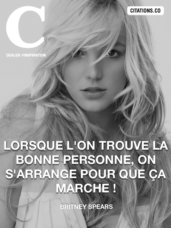 Citation de Britney Spears