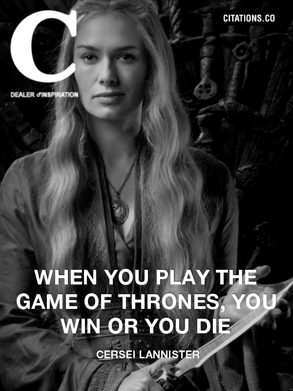 Citation de Cersei Lannister