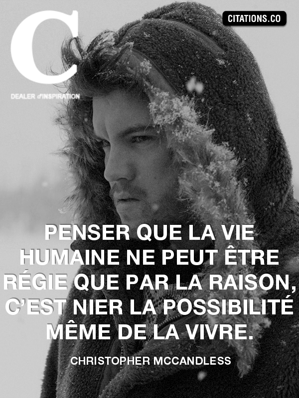 Citation de Christopher McCandless