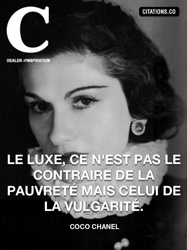 Citation de coco chanel