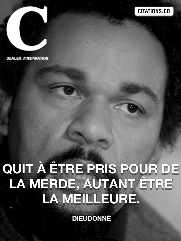 Citation de Dieudonné