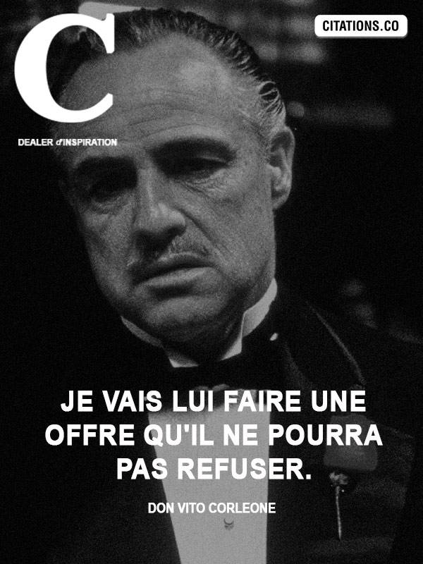 Citation de Don Vito Corleone