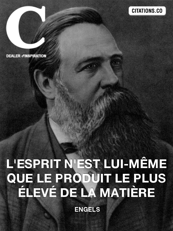 Citation de Engels