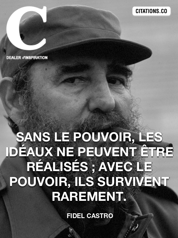 Citation de Fidel Castro