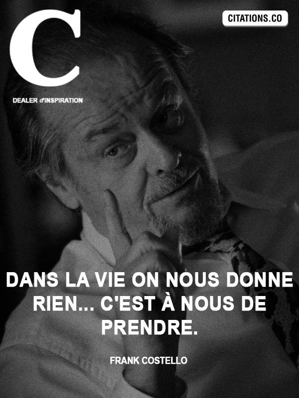 Citation de Frank Costello