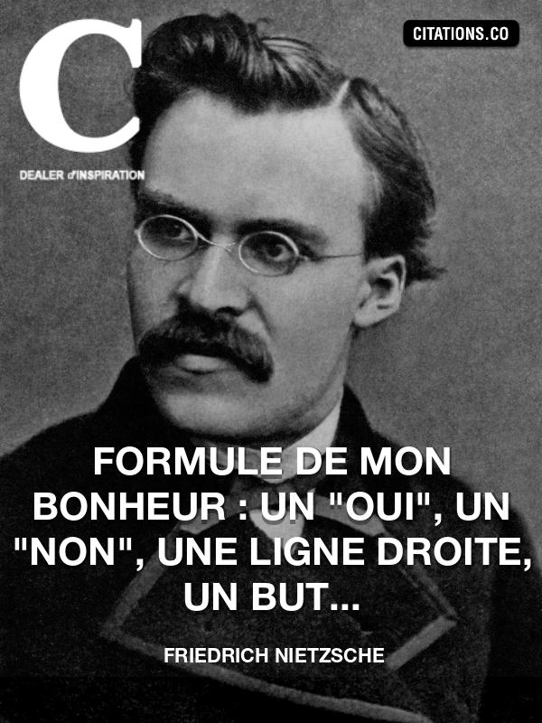 Citation Nietzsche Bonheur : Citation de friedrich nietzsche citation n°