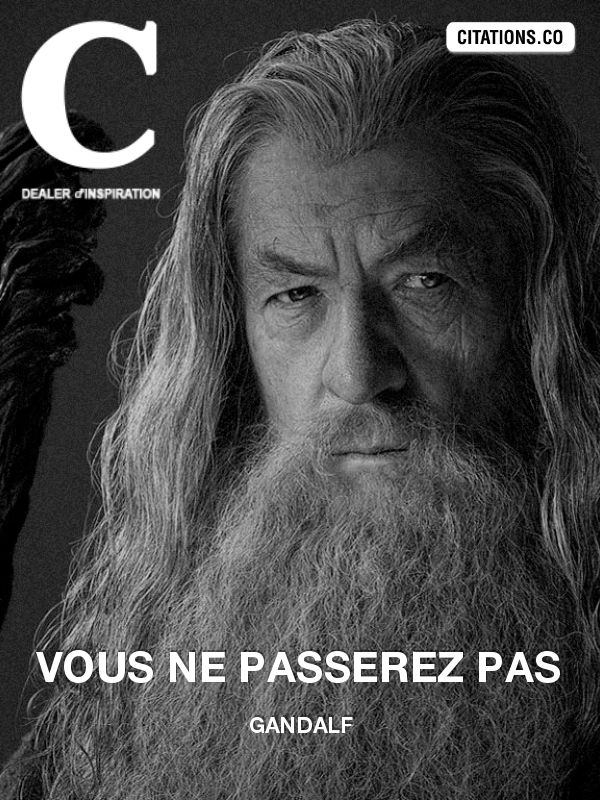 Citation de Gandalf