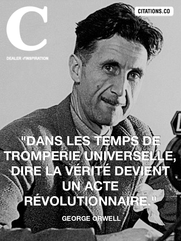 Citation de george orwell
