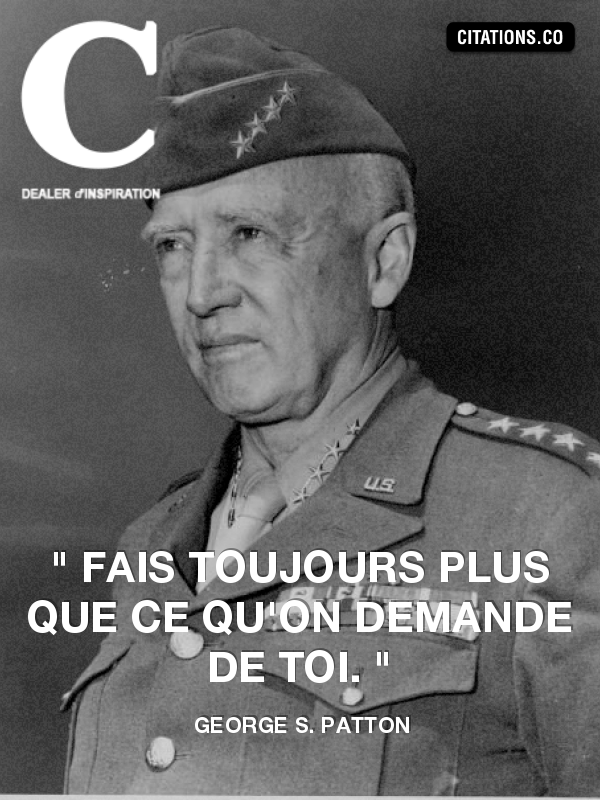 Citation de George S. Patton