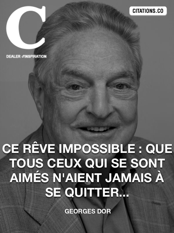 Citation de Georges Dor