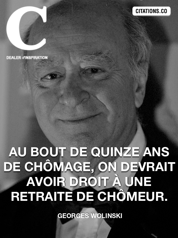Citation de Georges Wolinski