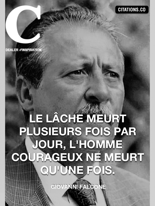 Citation de Giovanni Falcone