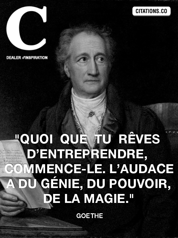 Citation de Goethe