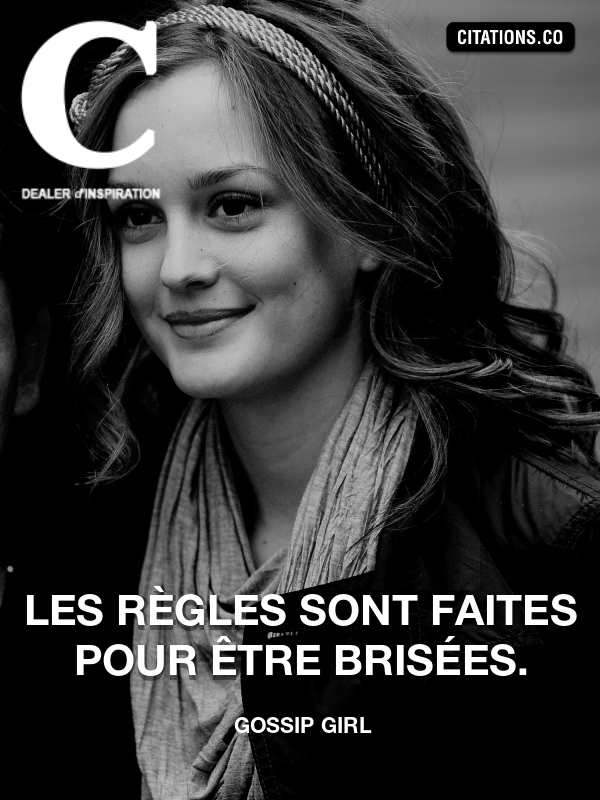 Citation de Gossip Girl-5b275875efacd