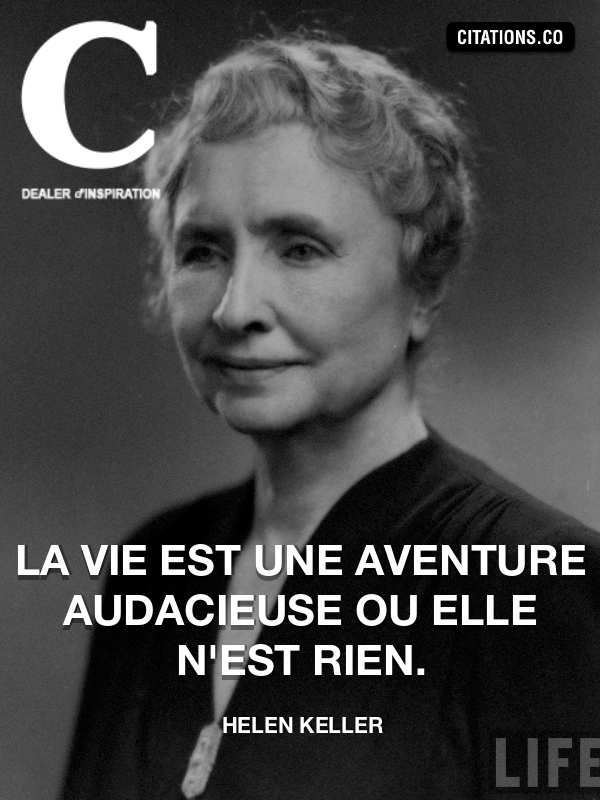 Citation de helen keller