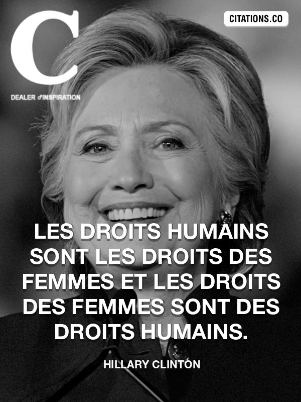 Citation de Hillary Clinton