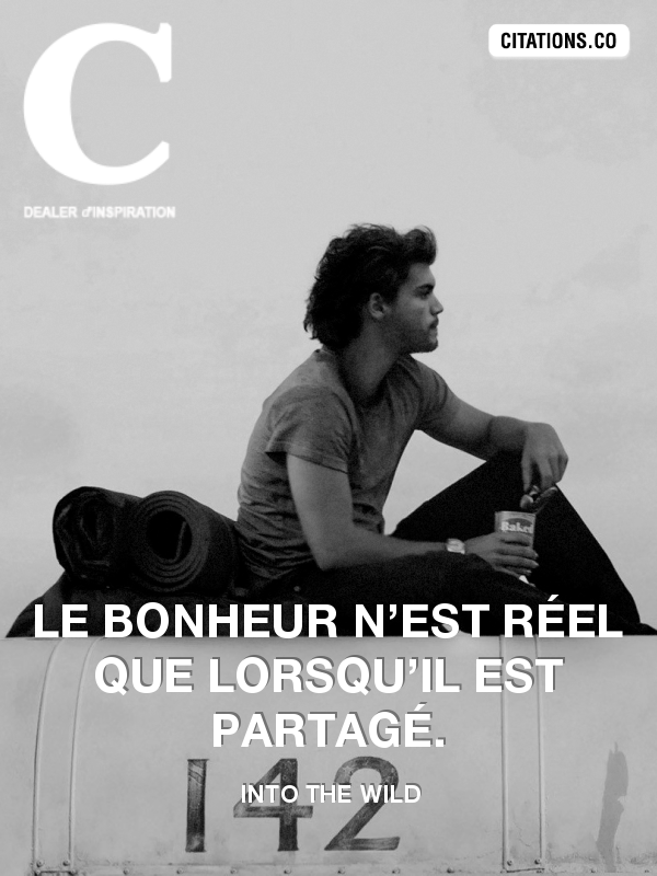 Citation de Into the wild-10746