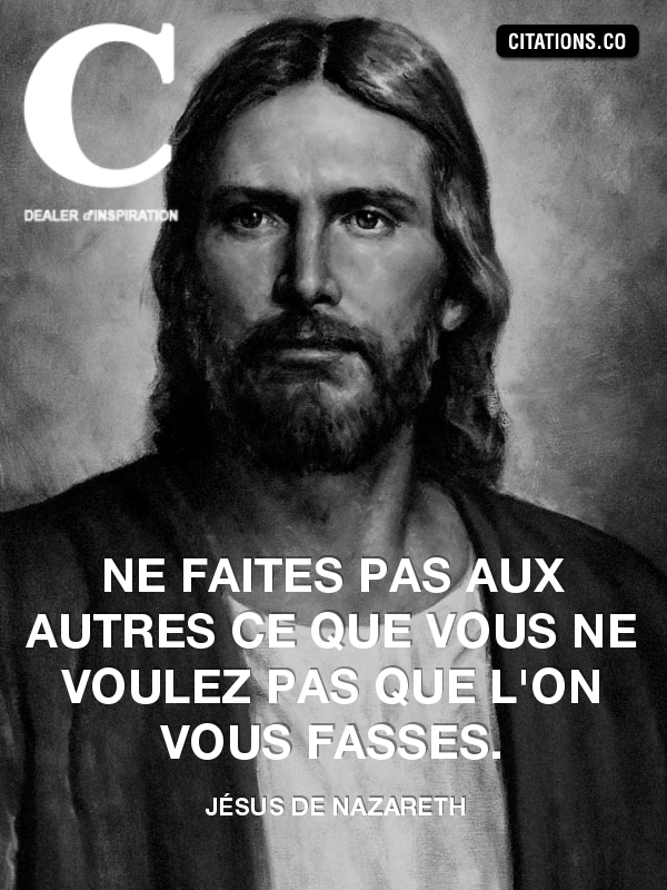 Citation de Jésus de Nazareth