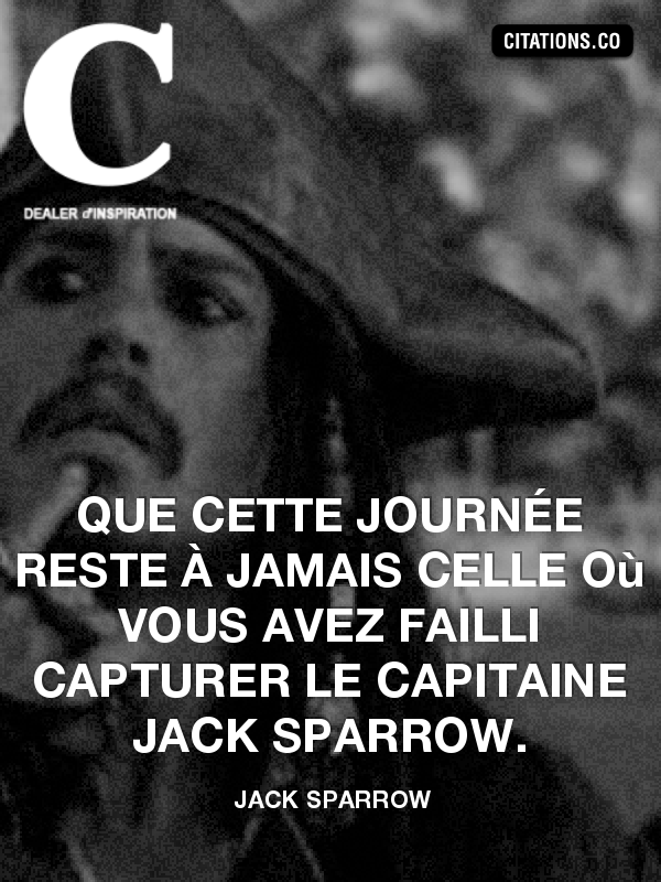 Citation de Jack sparrow