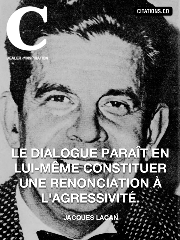 Citation de Jacques Lacan