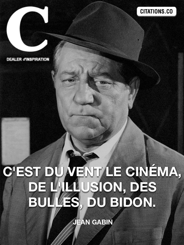 Citation de Jean Gabin