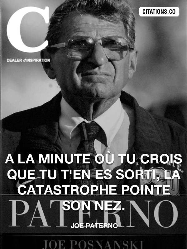 Citation de Joe Paterno