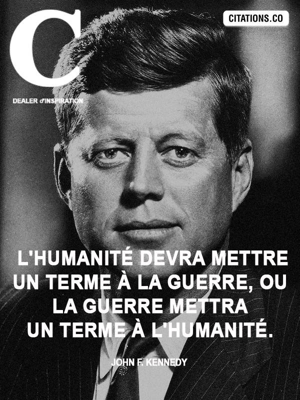 Citation de John F. Kennedy