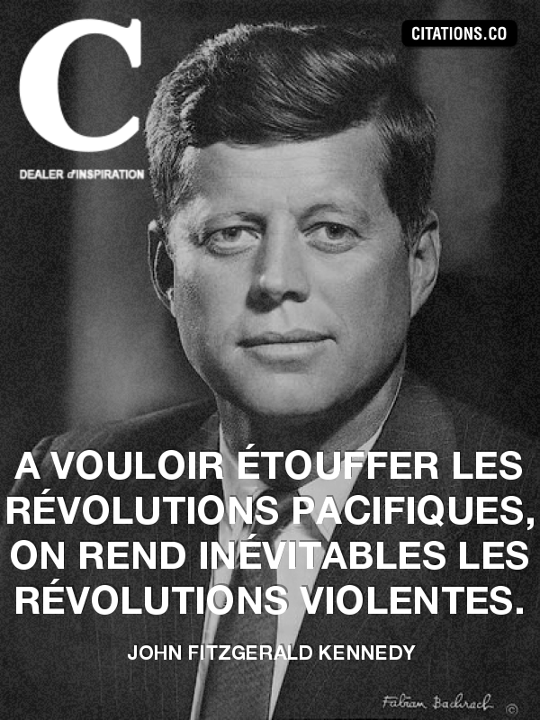 Citation de John Fitzgerald Kennedy