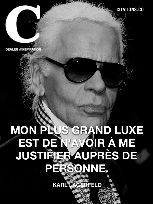 Citation de Karl Lagerfeld