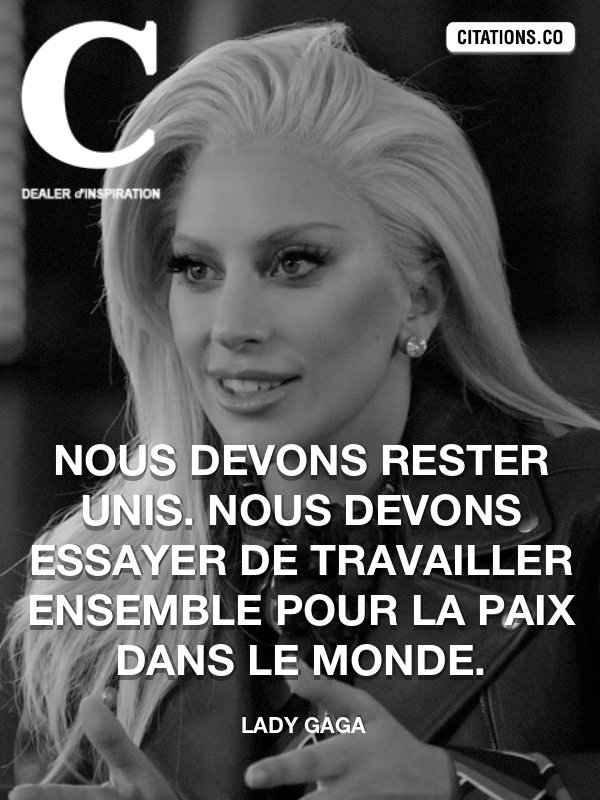 Citation De Lady Gaga Citation N 10144