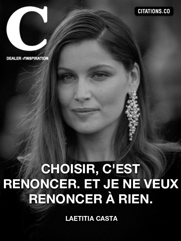Citation de Laetitia Casta