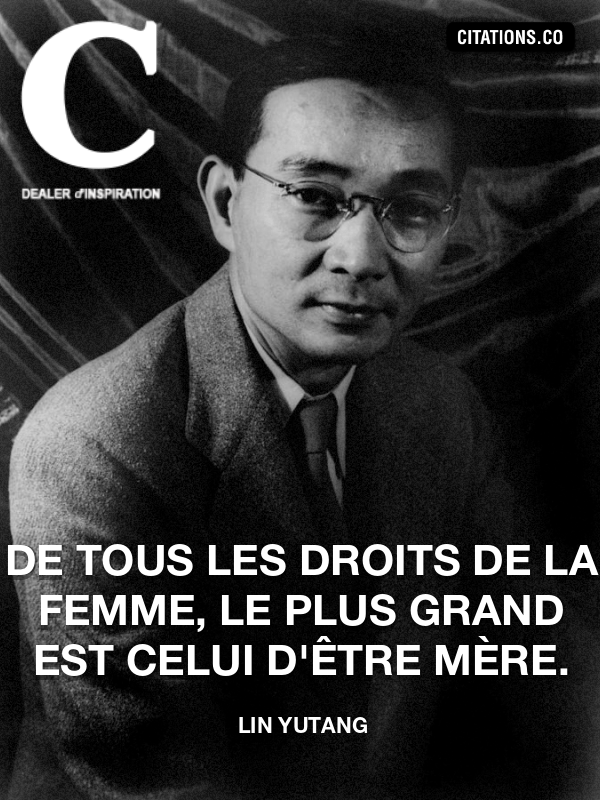 Citation de Lin Yutang
