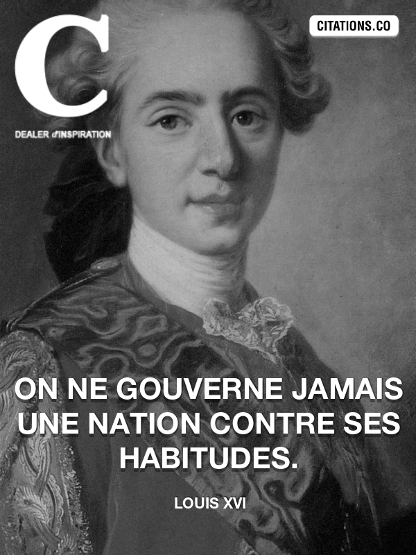 Citation de Louis XVI