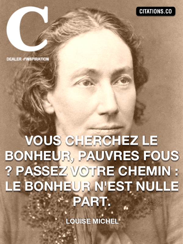 Citation de Louise Michel