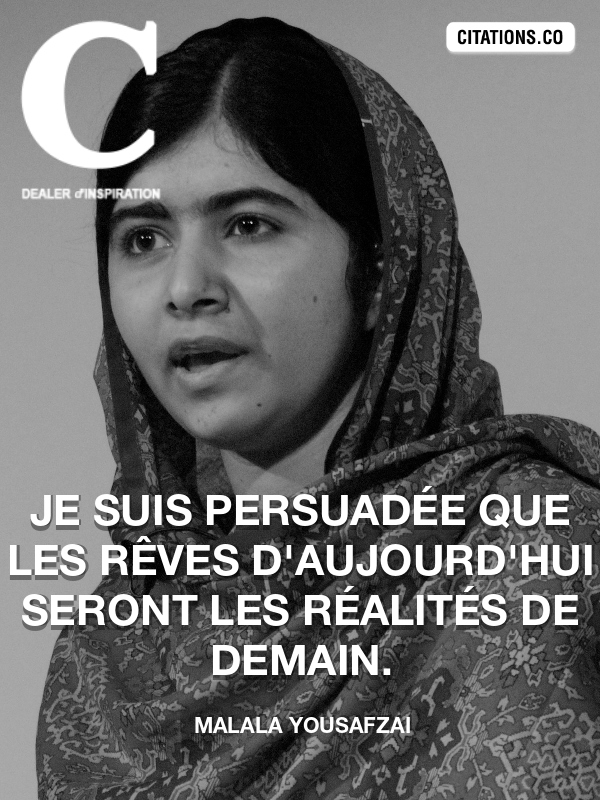Citation de Malala Yousafzai