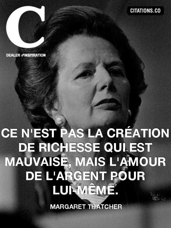Citation de Margaret Thatcher-331583